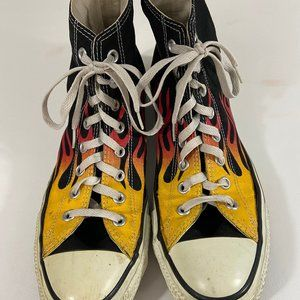 Converse with flames High Top Men's 9.5
